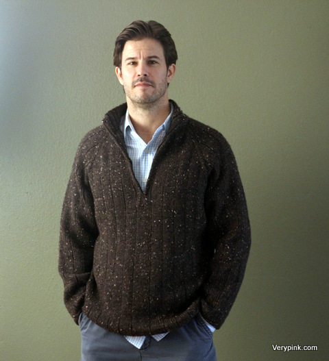 Knitting Patterns For Mens Half Sweaters : Learn to Knit a Mens Sweater - v e r y p i n k . c o m ...