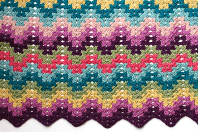 Knitted Granny Square Patterns : Crochet for Knitters - Granny Ripple Blanket - v e r y p i n k . c o m - knit...