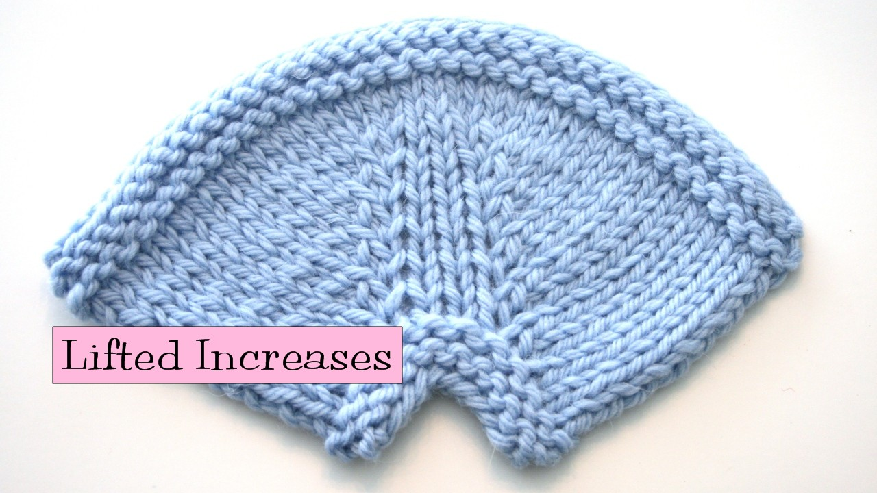 Lifted Increases - v e r y p i n k . c o m - knitting patterns and video tuto...