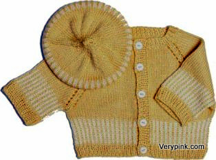 c2c1517f6 Striped Cardi and Matching Beanie or Beret - v e r y p i n k . c o m ...