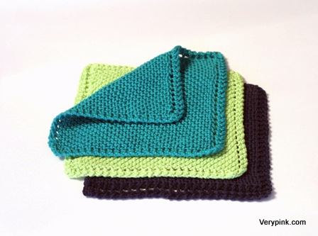 Learn To Knit A Dishcloth V E R Y P I N K C O M Knitting