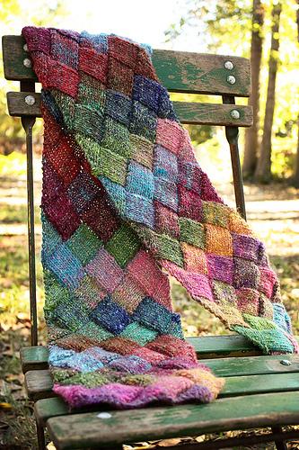 7f1352cca18d Learn to Knit Entrelac - v e r y p i n k . c o m - knitting patterns ...