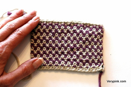 Linen Stitch V E R Y P I N K C O M Knitting Patterns And Video