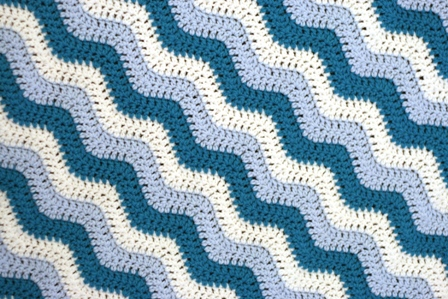 Crochet For Knitters Rugged Ripples Blanket V E R Y P I N K