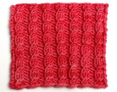 Fancy Stitch Combos Easy Cable Rib V E R Y P I N K C O M
