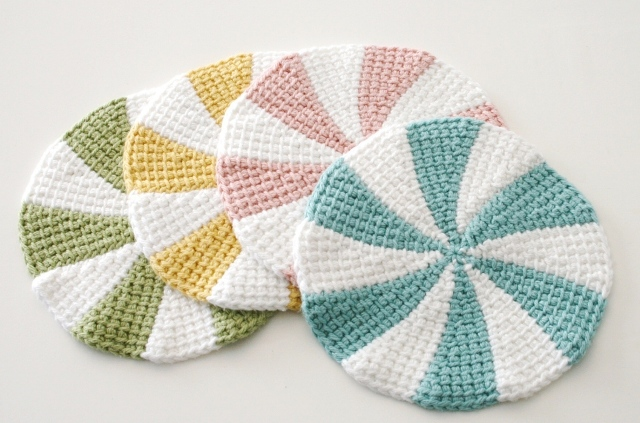 Tunisian Crochet Shaker Dishcloths V E R Y P I N K C O M