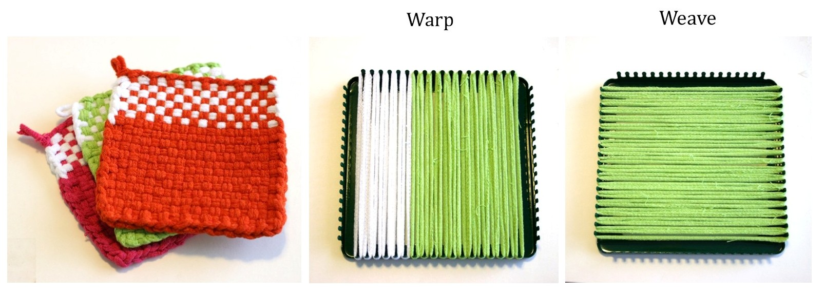 Loom Potholder Tutorial V E R Y P I N K C O M Knitting Patterns And Video Tutorials
