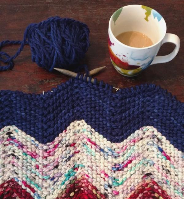 Zen Yarn Garden Chevron Baby Blanket V E R Y P I N K C O M